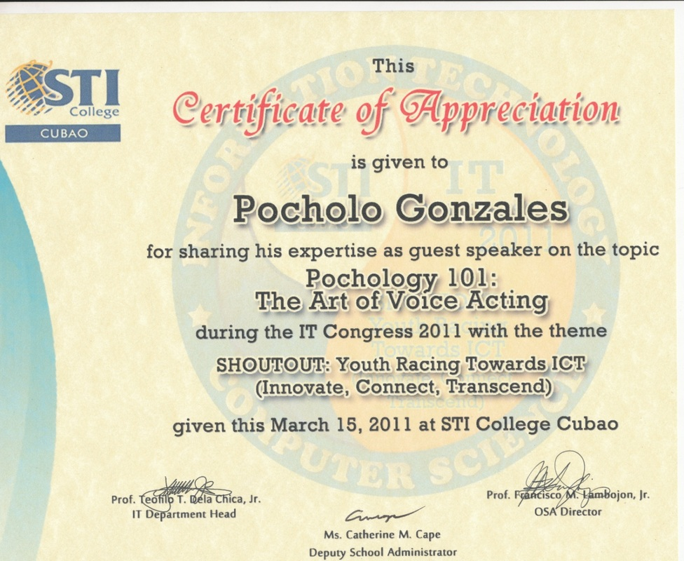 Certificates certificate of appreciation organizer sti collage cubao event shoutout youth racing towards ict innovate connect transcend venue sti collage cubao yadclub Image collections